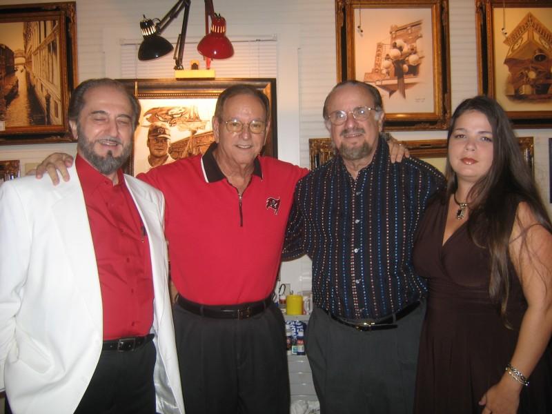 ROBERT MOFFA, MARY CRUMBLY, RICHARD GRECO & ARTIST